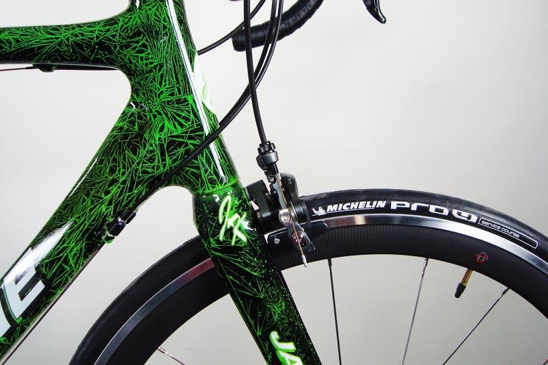722 Jack Kane Bikes Electric Green Crystals Fsa Carbon Wheels
