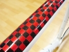 791 white custom bicycle _ checker board red