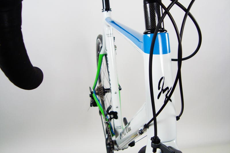 White, Blue, Green Battle Axe SL – Jack Kane Custom Racing Bicycles