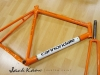 handmade cannondale frame _ orange paint