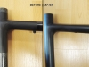 example of bad good carbon bicycle work _ seat tube