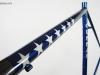 custom painted gunnar steel bike _ flag