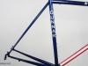 custom painted gunnar steel bike _ metallic blue